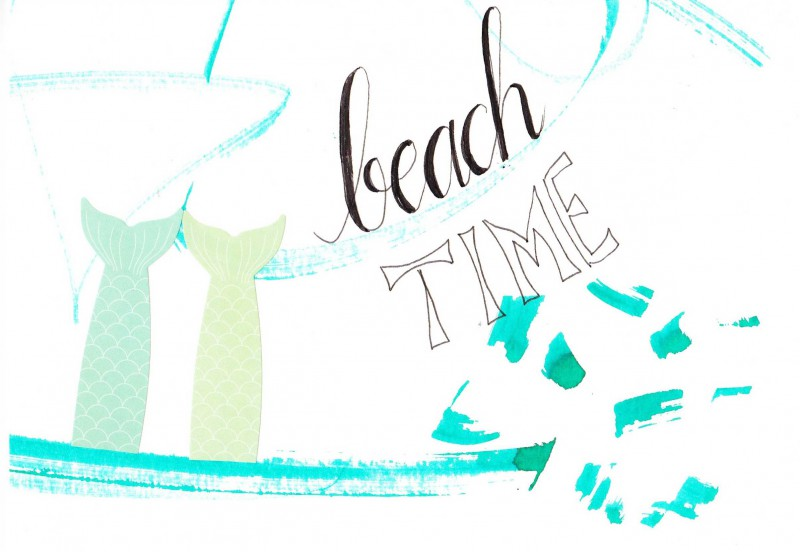 Beach time - card