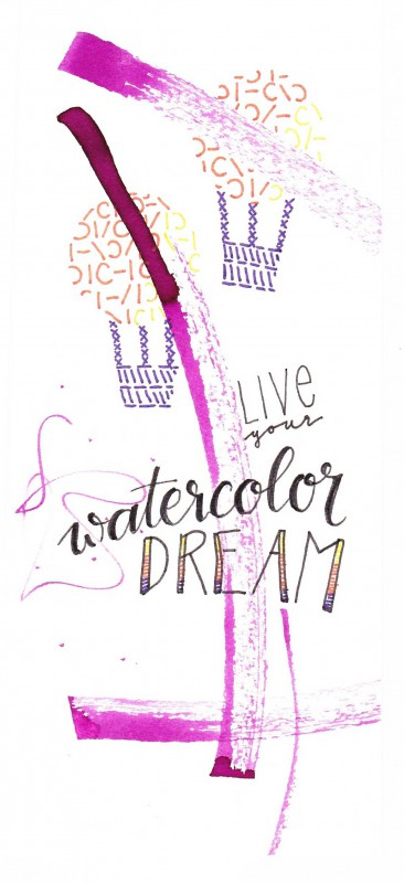 Bookmark Live your watercolor dream-1