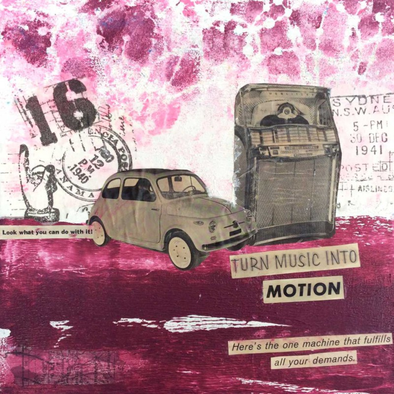 Collage Leinwand - Turn music into motion