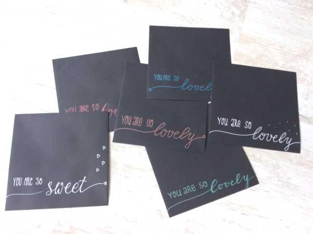Envelopes black
