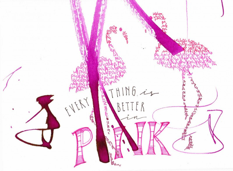 Everything is better in pink - card