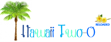 Hawaii Two-O Reloaded Logo with palm tree and frangi