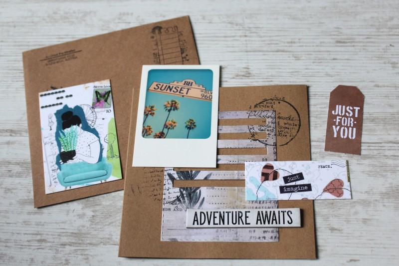 Karten Kraft Einschubfach - Adventure awaits-Opened