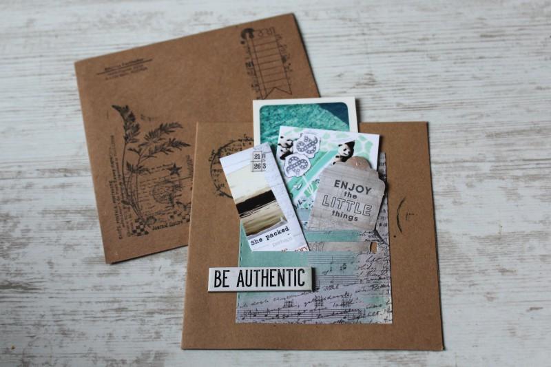 Karten Kraft Einschubfach - Be authentic