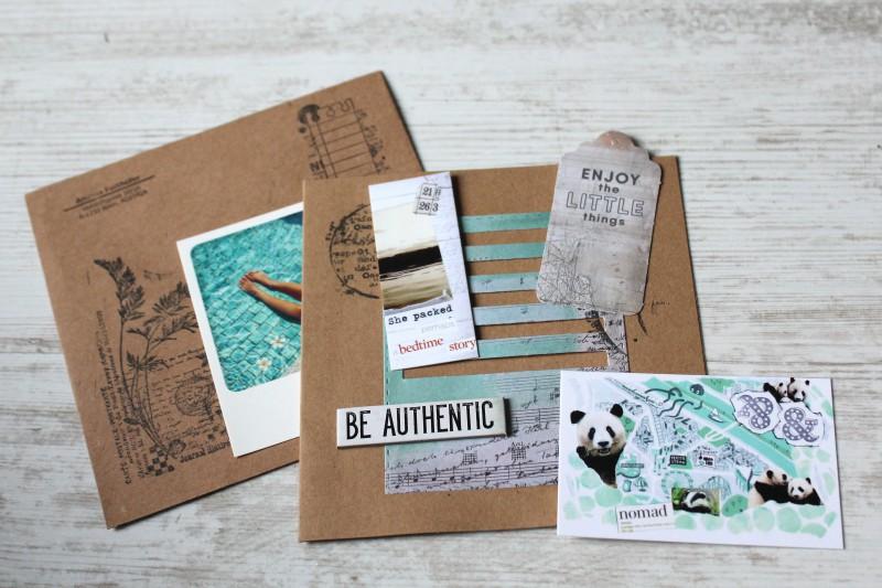 Karten Kraft Einschubfach - Be authentic-Opened
