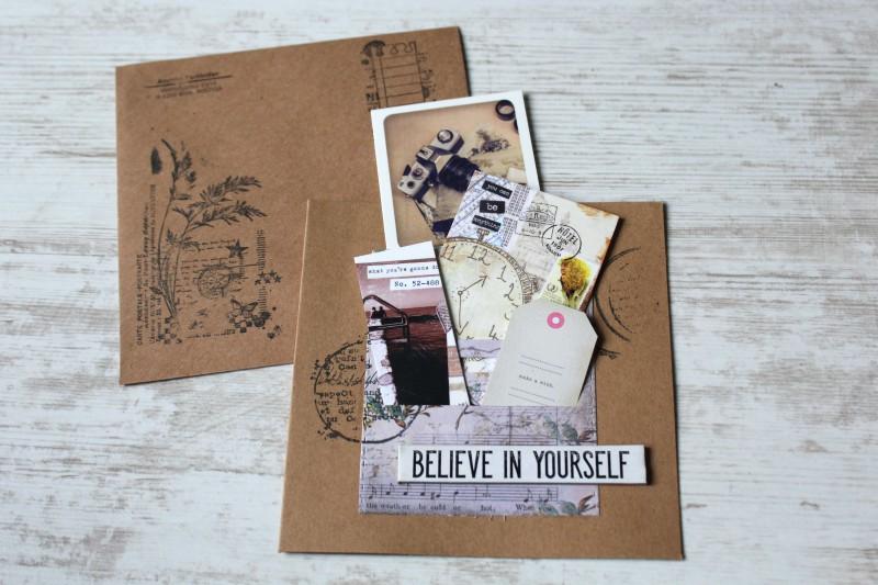 Karten Kraft Einschubfach - Believe in yourself