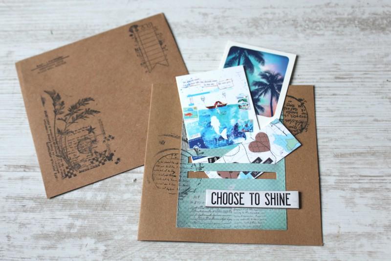 Karten Kraft Einschubfach - Choose to shine