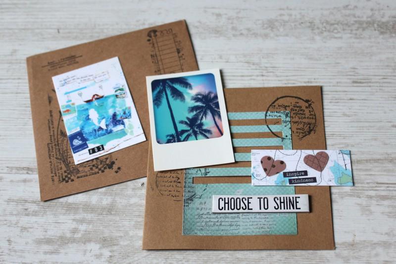 Karten Kraft Einschubfach - Choose to shine-Opened