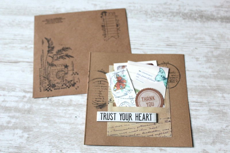 Karten Kraft Einschubfach - Trust your heart