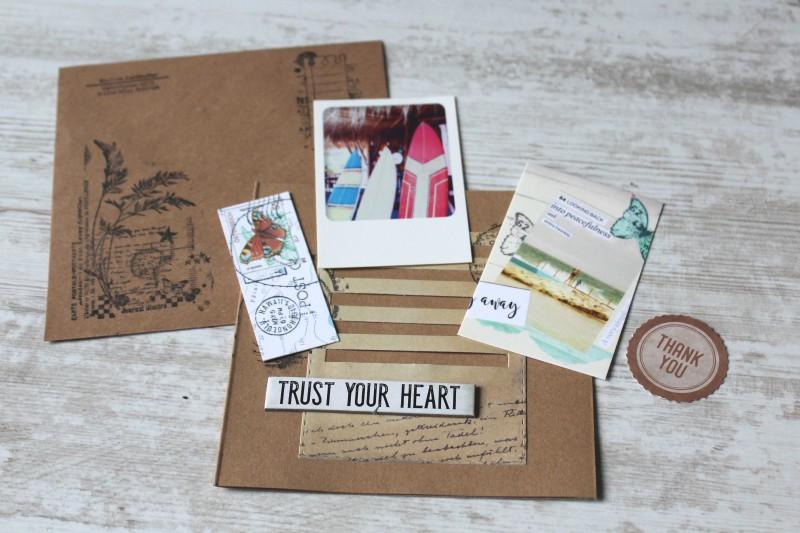 Karten Kraft Einschubfach - Trust your heart-Opened