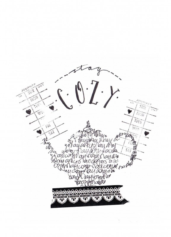 Lettering graphical - Cozy