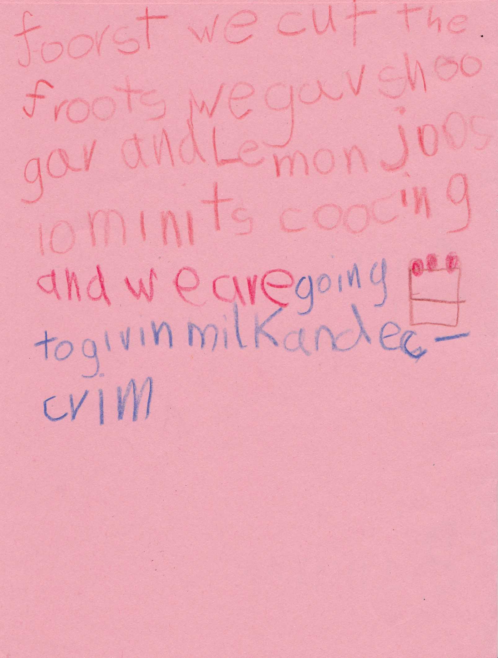 Milkparty 2011-Speisekarte Rezept