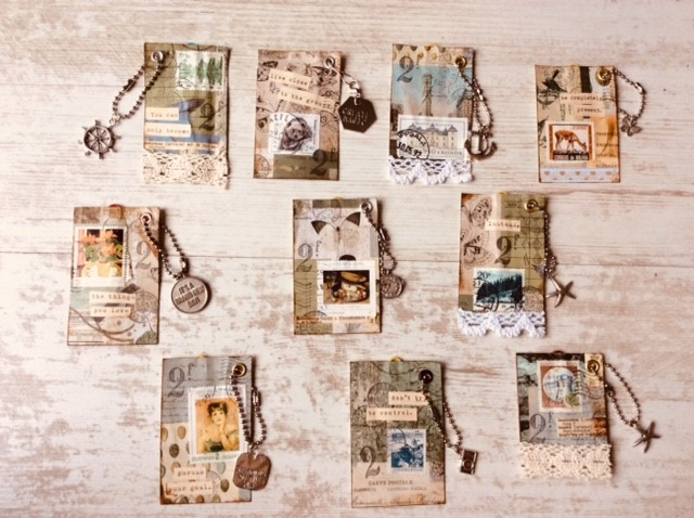 Paperclips collages with charms-1