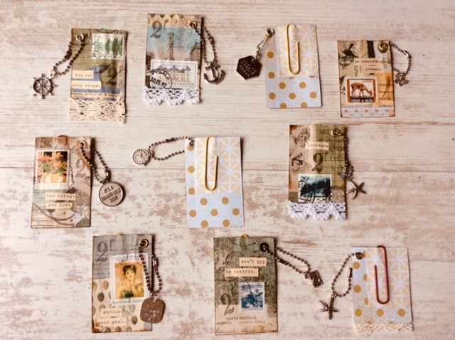 Paperclips collages with charms-2