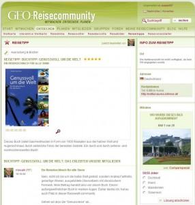 Reisetipp Buchtipp GEO Reisecommunity