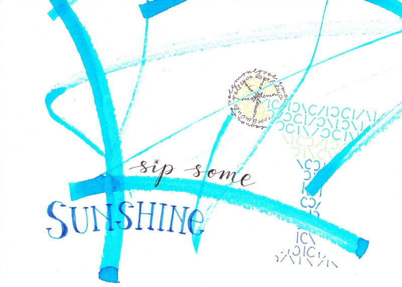 Sip some sunshine - card