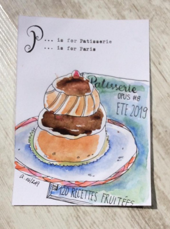 Sketching P is for Patisserie-Postcard2