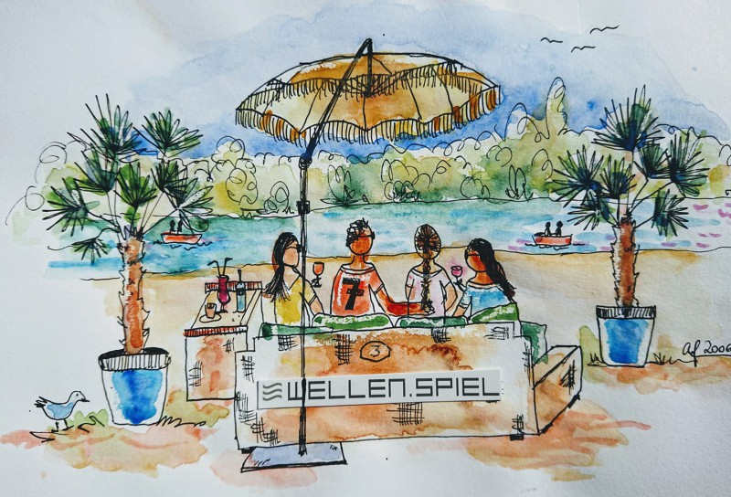 Sketching Wellenspiel Krems-1