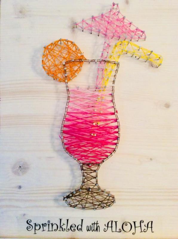 Fadenkunst String Art Sprinkled With Aloha Willkommen Im Facettenreich