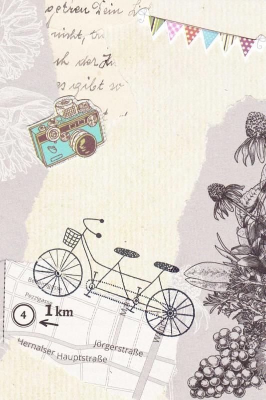 Typewriter-style-Collagen Karte-4 (Tandem)