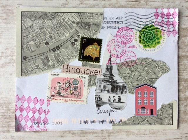 Upcycled envelope Hingucker