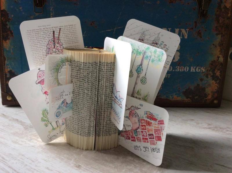 Upcycling Buch als Kartenhalter-1b