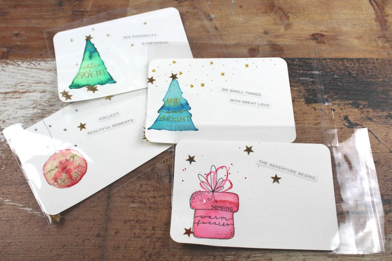 Watercolor Christmas Cards 2018-1