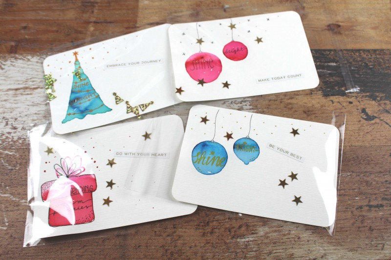 Watercolor Christmas Cards 2018-2
