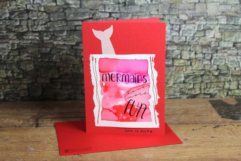 Watercolor cards-sewn and lettered-12