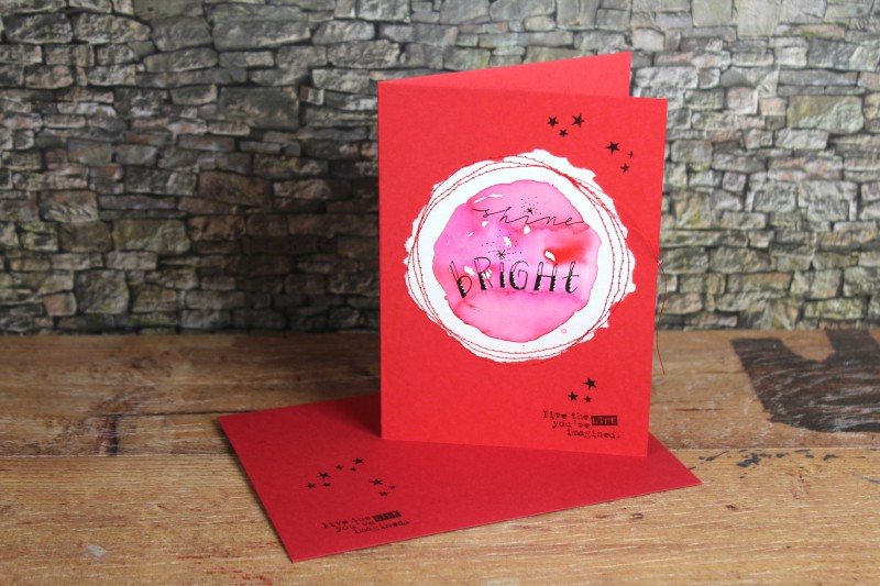 Watercolor cards-sewn and lettered-2