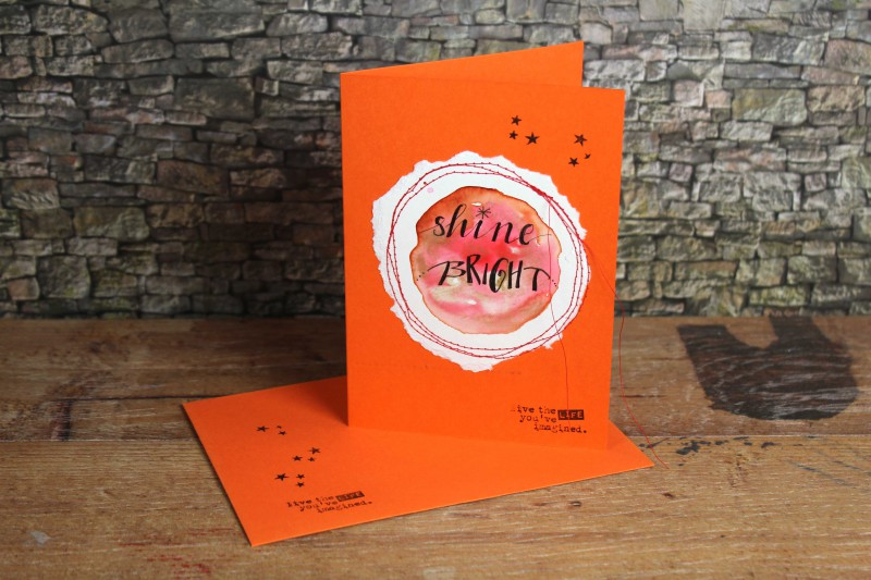Watercolor cards-sewn and lettered-4