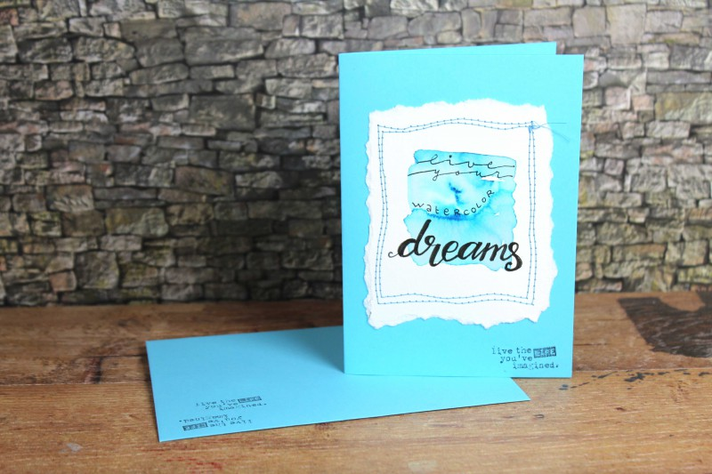 Watercolor cards-sewn and lettered-8