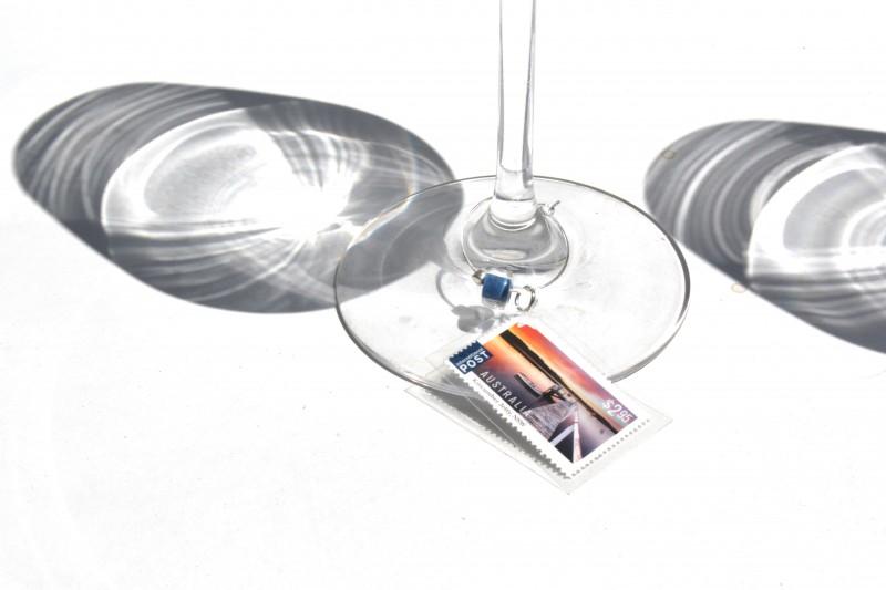 Wine glass charms - Glass AUS Landscape Jetty
