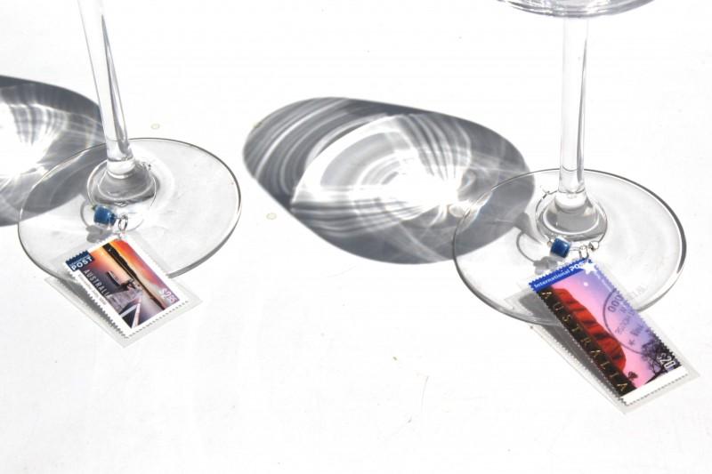 Wine glass charms - Glasses AUS Landscapes